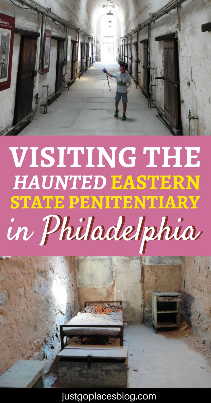 Ever thought of visiting a prison? Find out why you should plan a visit to the Eastern State Penitentiary in Phildelphia, Pennsylvania. They say the prison is haunted...ready for a spooky experiences? | things to do in Philadelphia | Philadelphia with kids | Haunted places | Spooky places to visit #Philadelphia #hauntedplaces #haunted - via @justgoplaces
