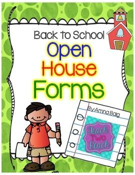 Open House/Meet the Teacher/Back to School Night  Parent Forms