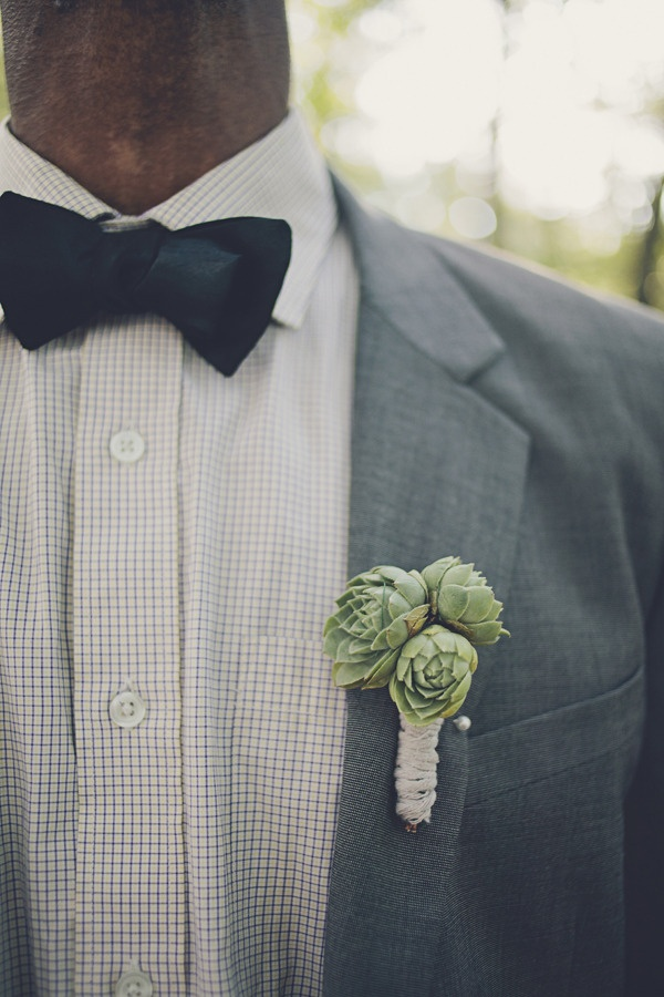 succulent boutonniere Photography By / http://brookecourtney.com
