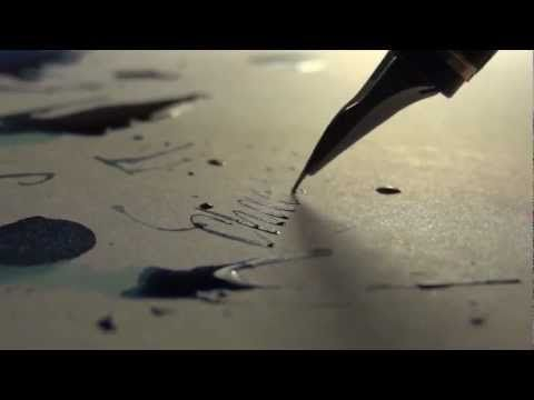 Beautiful calligraphy video may cause pleasure overdrive