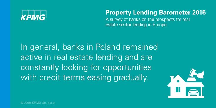 In general, banks in #Poland remained active in #realestate lending and are constantly looking for opportunities with #credit terms easing gradually. #KPMG #Property #KPMGPoland