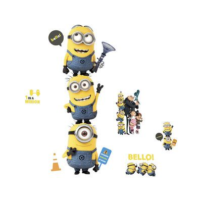Room Mates Despicable Me 2 Wall Decal Set & Reviews | Wayfair