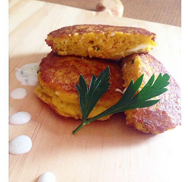 Sweet potato and haloumi fritters