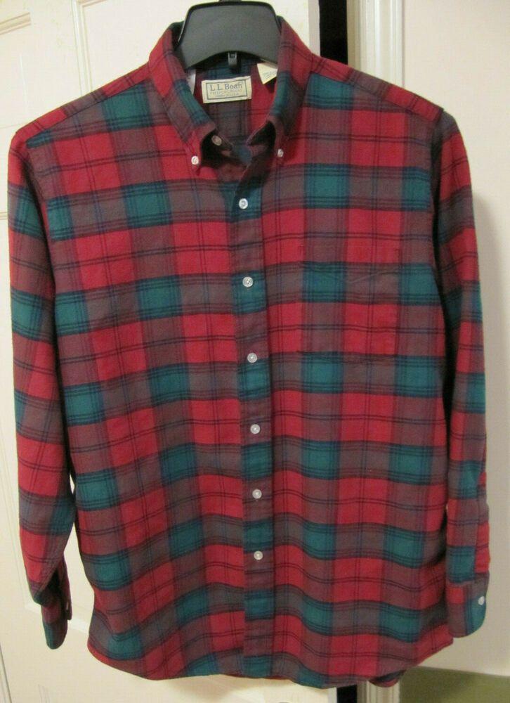 LL Bean Shirt Vintage LL Bean Checkered Shirt Men/'s Size M