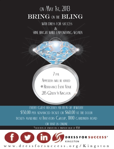 TICKETS ARE SELLING FAST! Email us at Kingston@dressforsuccess.org to buy your now! (Please indicate how many tickets)