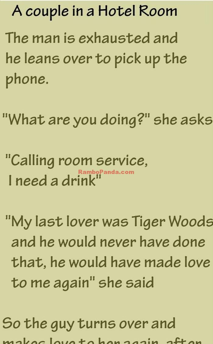 A Couple Spent A Night In A Hotel Room Couples Jokes Golf Humor Family Humor