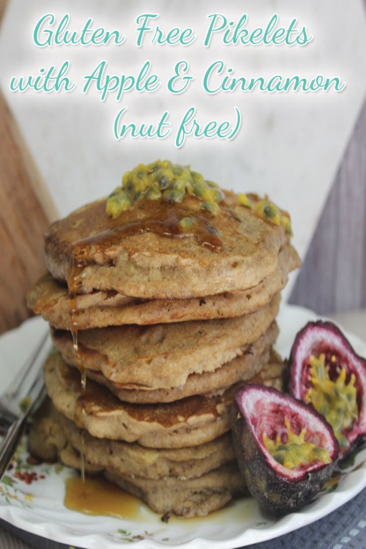 Gluten Free Pikelets with Apple & Cinnamon (nut free)