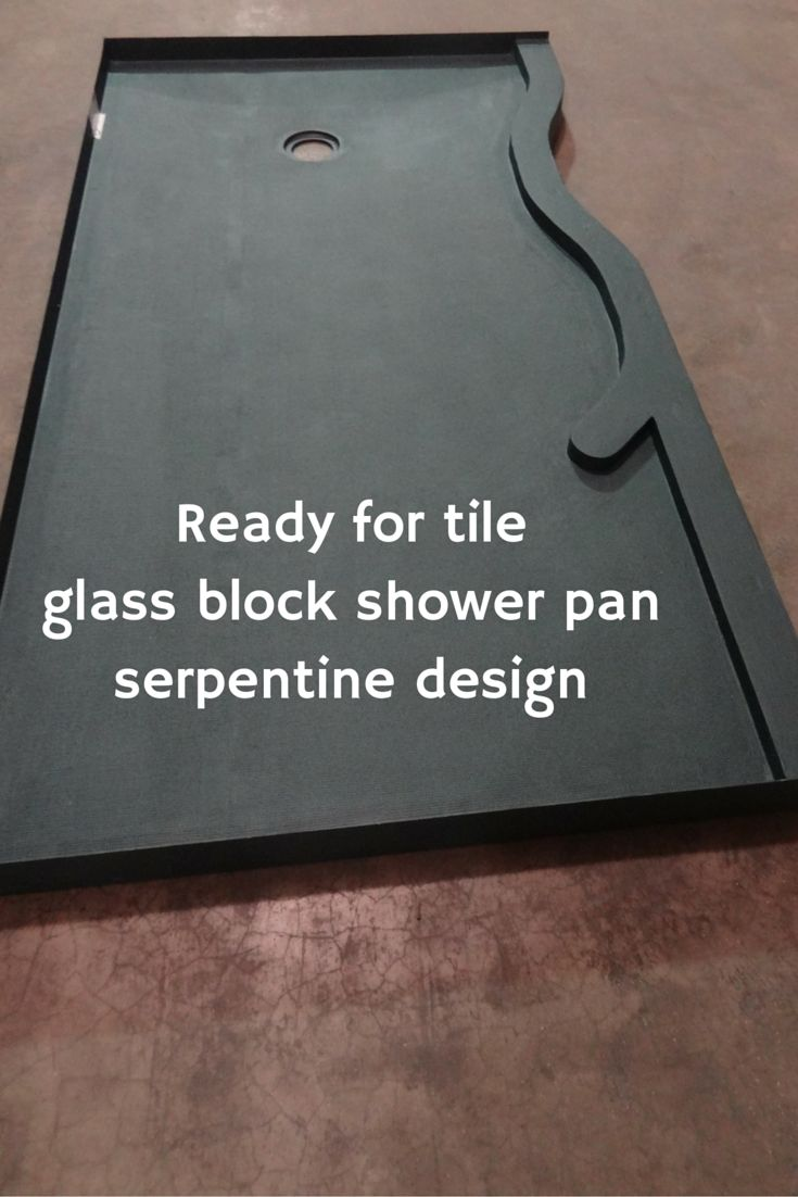 Learn how to use a waterproof ready for tile shower pan with a glass block wall http://blog.innovatebuildingsolutions.com/2015/12/25/compare-shower-pans-glass-block-wall/