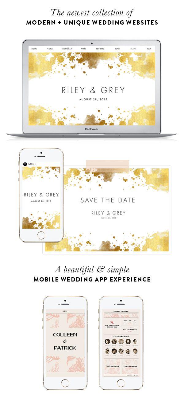 Design your dream wedsite today with Riley & Grey: http://www.stylemepretty.com/2016/01/07/riley-grey-wedding-websites-3/