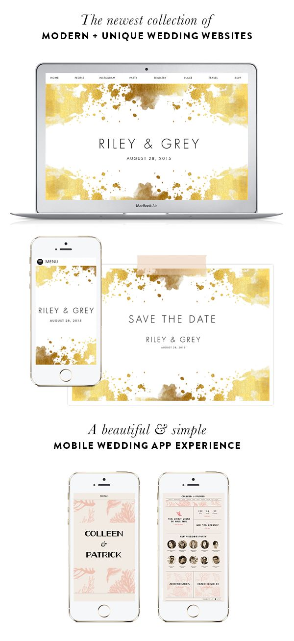 Design your dream wedsite today with Riley & Grey: http://www.stylemepretty.com/2016/01/07/riley-grey-wedding-websites-3/