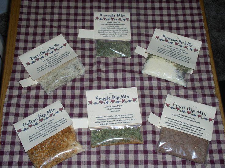 how to make dry dip mixes