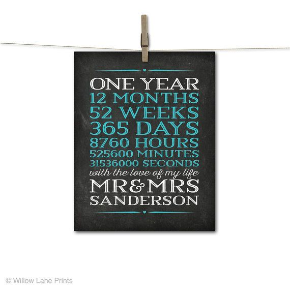 1 Year Wedding Anniversary Present For Husband : ... anniversary gift for him, men husband, personalized 1 year wedding