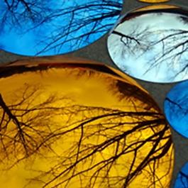 Miroir Bombé de couleur