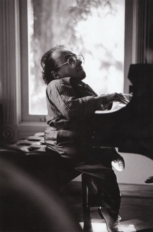 Michel Petrucciani at Ken Schuberts house in the late 1980s. Michel was dwarf and an incredible piano player. He accessed the pedals by placing blocks on them.