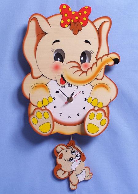 Bartolucci Moving Eyes & Pendulum Elephant Clock
