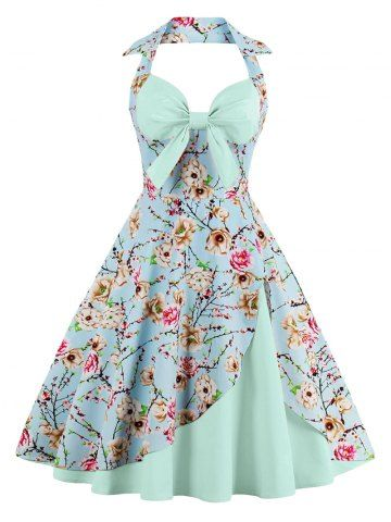 GET $50 NOW | Join RoseGal: Get YOUR $50 NOW!http://www.rosegal.com/vintage-dresses/halter-floral-print-pin-up-1089362.html?seid=8493483rg1089362