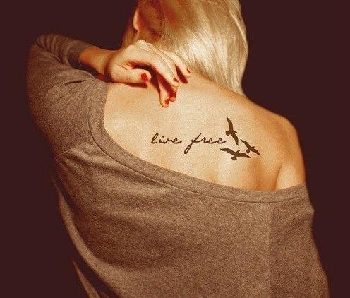 live free. #birds #tattoos