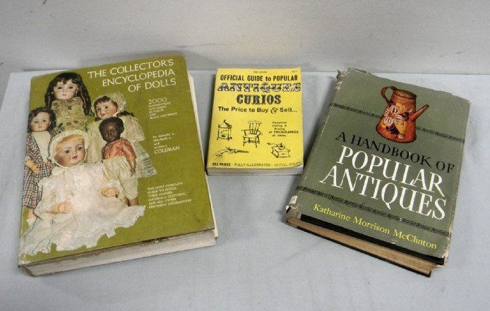Reference Guide Books of Antiques/Dolls Popular Antiques and