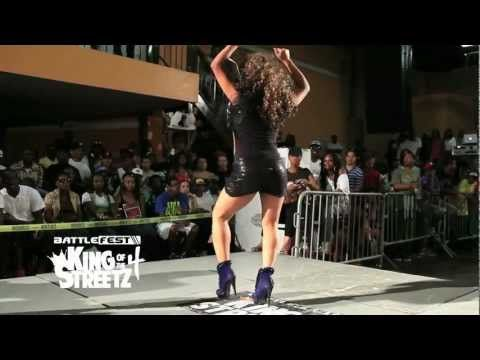 OMG! ! Ladia Yates Ankle Breaking in Heels ! NY - YouTube