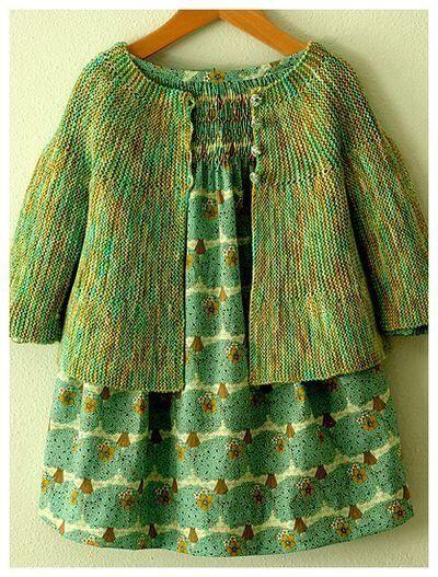 herminehesse: Child's sweater over smocked dress