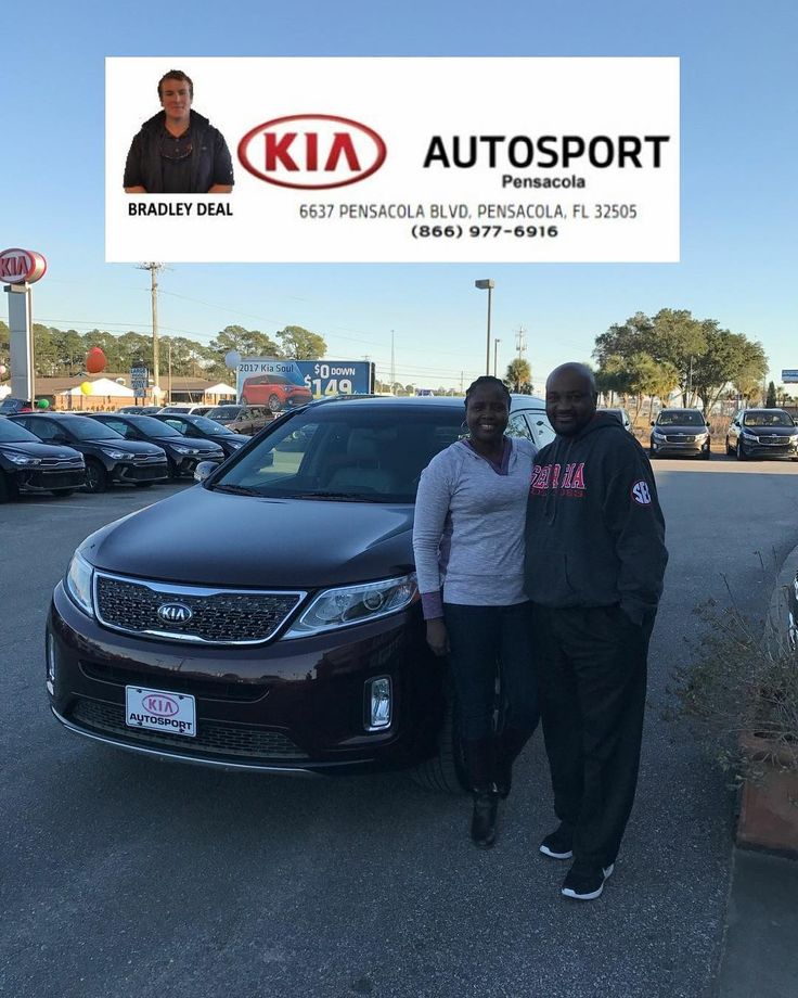 """Pamela and Timothy Jones look AWESOME with their 2014 KIA Sorento!! Bradley Deal and KIA AutoSport of Pensacola are so grateful that you chose us to serve you!! Welcome to the KIA AutoSport Family!!! We look forward to serving you for MANY MORE years to come!! CONGRATULATIONS!!! """"WE WANNA SEE YA IN A KIA""""  #KIAFAMILY"""