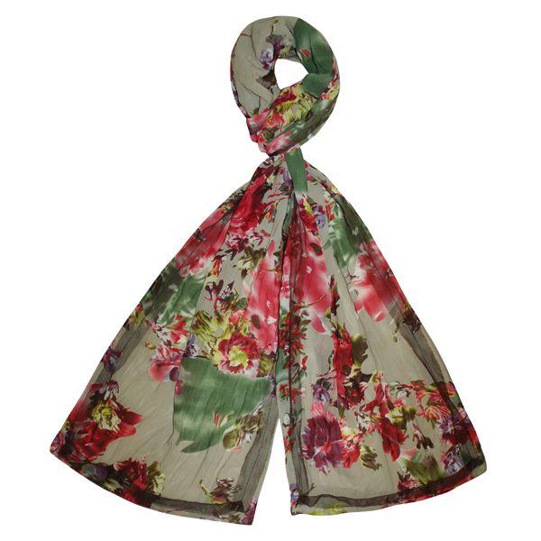 Chiffon Scarf - Floral Print
