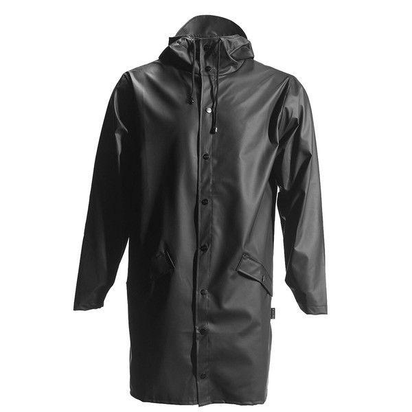 Rains Long Jacket in Black