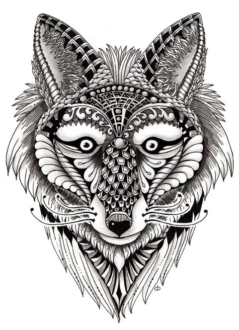 ornate-fox-ornate-zentangle-art-animals - Google Search ...