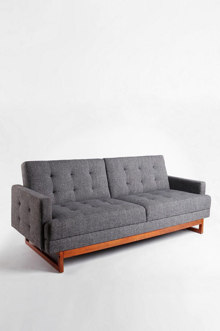 Either Or Convertible Sofa Urban Outfitters Grey And