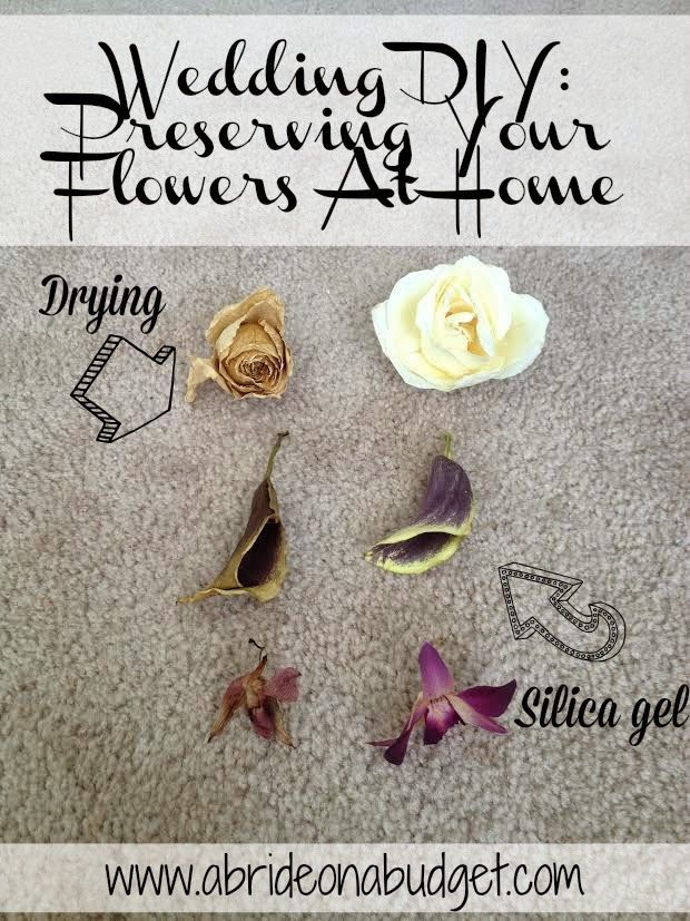Wedding DIY: Preserving Your Flowers At Home from www.abrideonabudget.com @broadwaybaby