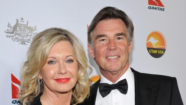 Actress Olivia Newton-John and John Easterling arrive at the 2013 G'Day USA Los Angeles gala on Jan. 12, 2013, in Los Angeles.