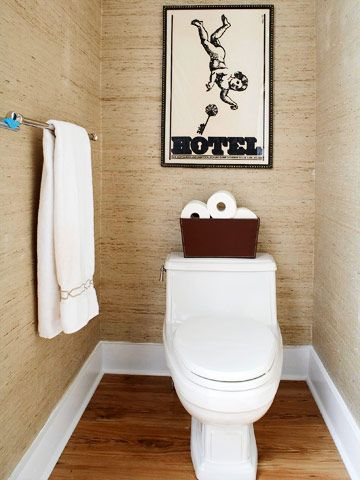 grasscloth for toilet room