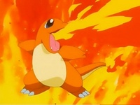 charmander. a true-blue starter in any first gen pokemon game. =)