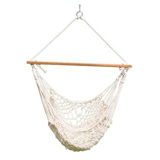 """Cotton Rope Hammock Swing (Natural) 44""""x 60"""" 
