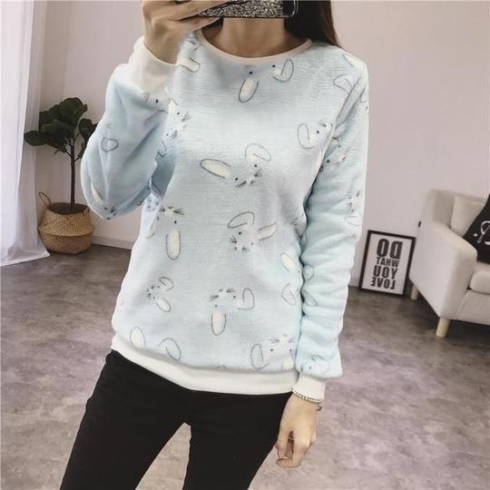 Fashion Winter Sweater Women Top 2018 Casual Cotton Long Sleeve Ladies Cartoon Print Sweater Plus Size 2XL Outwears Jacket 13