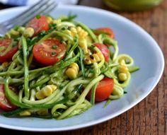 Salada de Abobrinha com Milho Grelhado e Tomate-Cereja