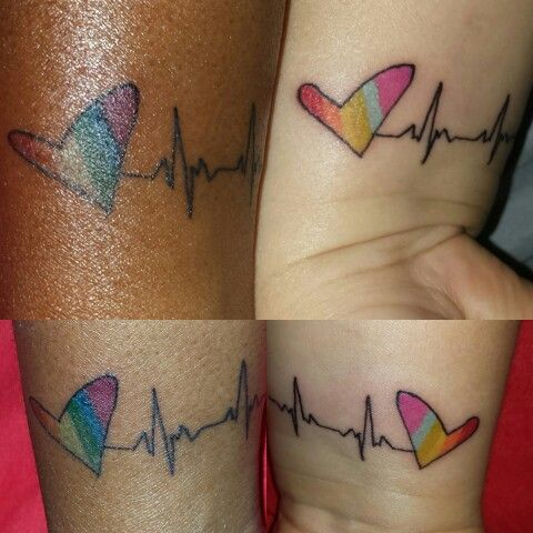lesbian couple tattoos ideas