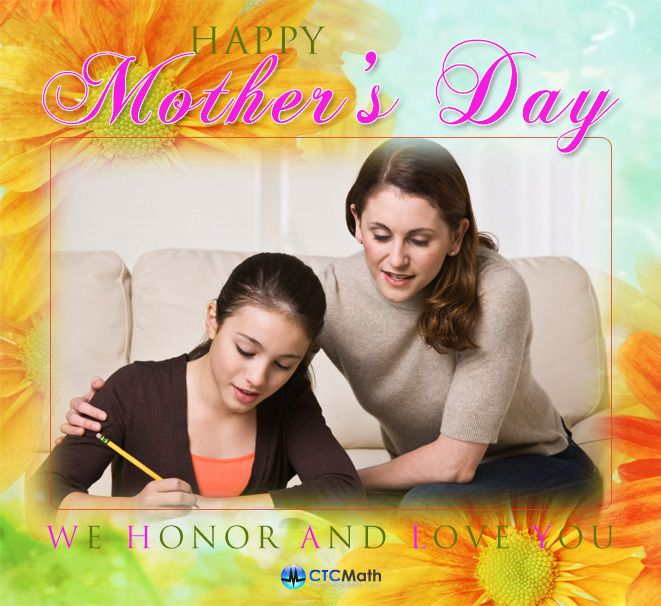 To all moms out there, Happy Mother's Day!