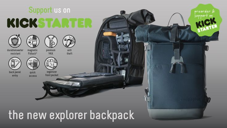 The all new compagnon explorer camera backpack // legendary Deuter comfort with ultimate functionality & dapper urban style - Support us now on Kickstarter!