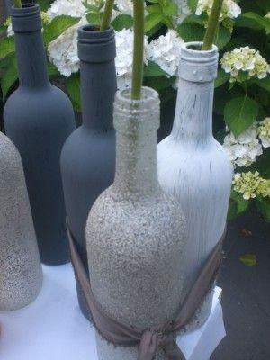 wijn flessen verven