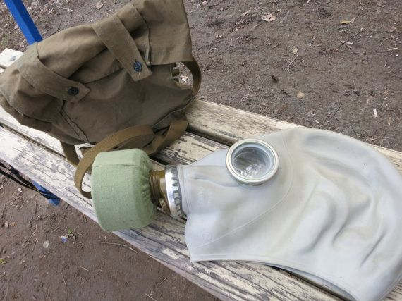 $8,59 Soviet Russian Gas Mask  Made in USSR Size от AllForHappyAndLoveV