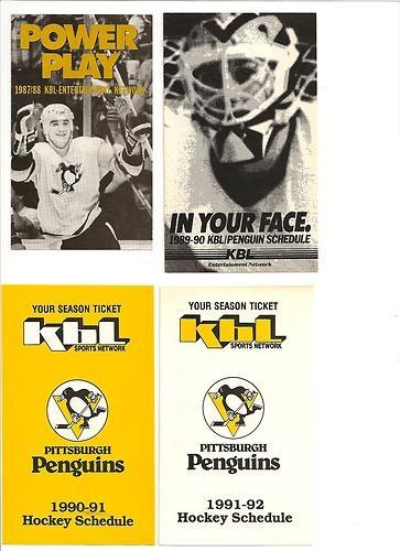 1989-90 Pittsburgh Penguins KBL/PharxMor Hockey Schedule