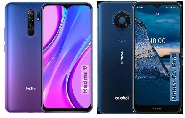 Xiaomi Redmi 9 Vs Nokia C5 Endi Specs Comparison In 2020 Nokia Xiaomi Digital Zoom