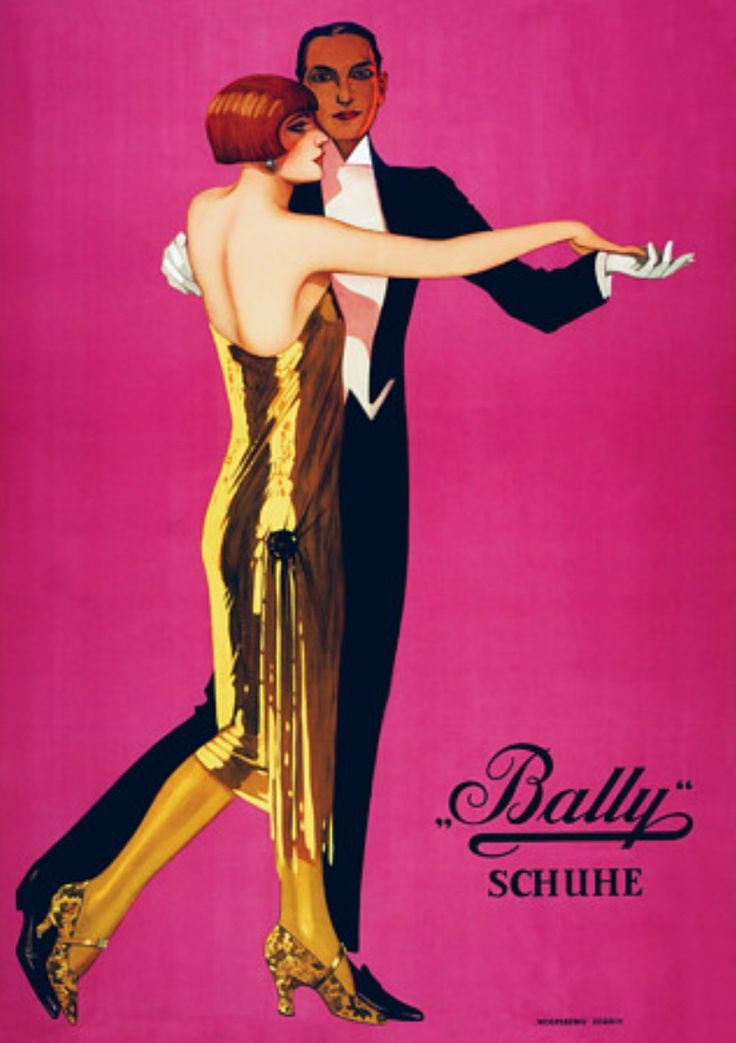 Vintage Poster - Bally Shoes - Fashion - 1920's - Flapper