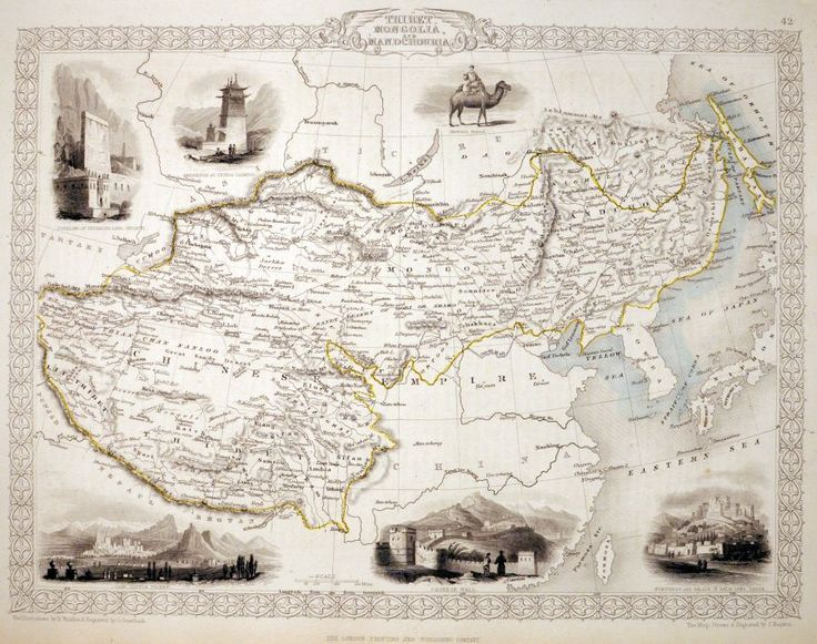 Thibet, Mongolia and Mandchouria.  TALLIS, John.    London, John Tallis & Co., 1851.     Featuring six beautifully engraved vignettes, including the Great Wall of China and the Palace of the Dalai Lama. John Tallis is without question....