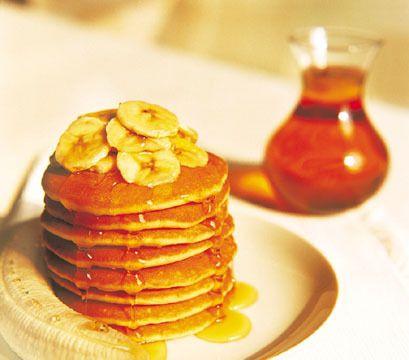 Crêpes sans oeufs aux bananes et à l'avoine. On me dit qu'elles sont délicieuses!