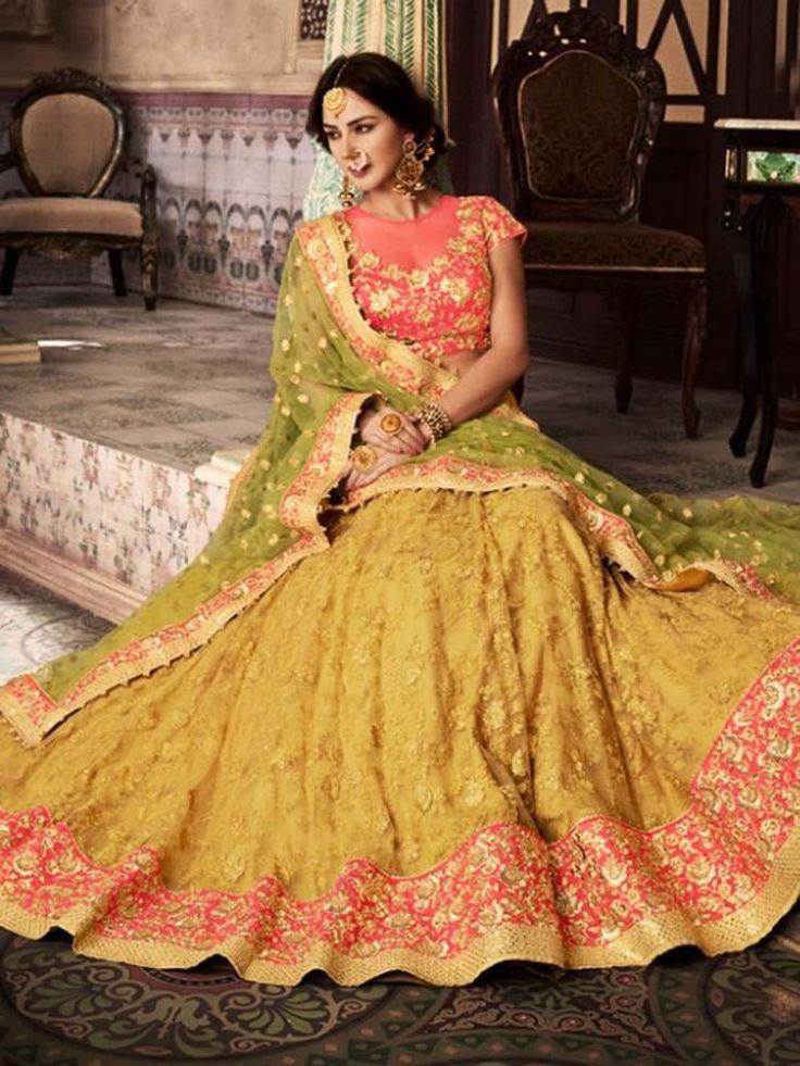 New Style India Pakistani Latest Design Party wear Net embroidery Lehenga Choli #Shoppingover #LehengaCholi #WeddingPartywear