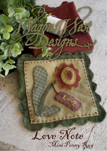 """discover How to Mark Wool Applique with Martha Rinker Walker downloading for free her pattern """"Love Note"""" created with #aurifil wool thread"""