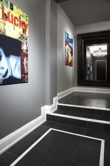 Black Limestone Foyer Foyers And Border Tiles