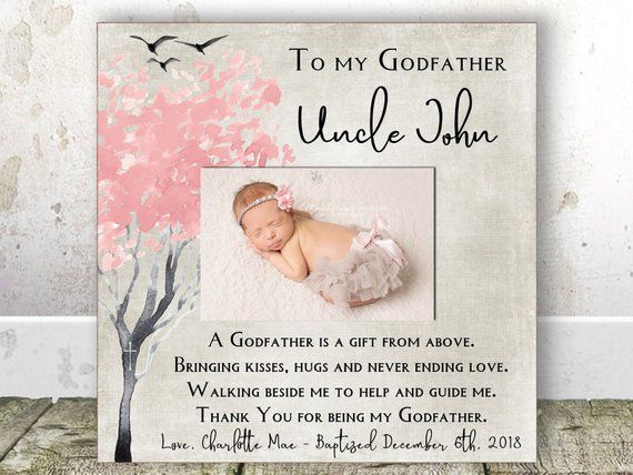 Godfather Gift for Godfather Baptism Gift Personalized Godfather Christening Gift from Godson Christening Gift From Goddaughter Uncle gift